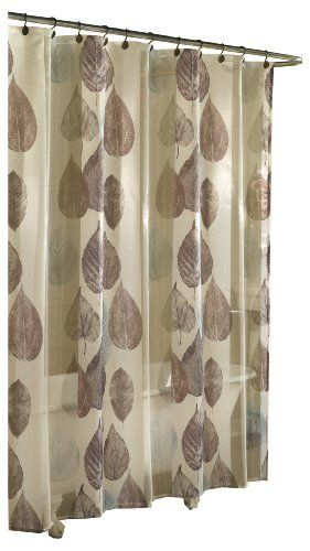 78 Inch Long Shower Curtain Fabric | ... Cell Home Fashions Gossamer Leaf  Fabric