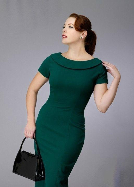 Vintage Inspired Pencil Dress Sophisticated, feminine and flattering...