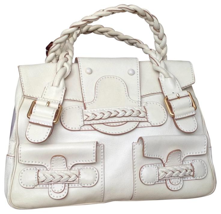Valentino Historie Braided Handled Off White Bag - Satchel $851