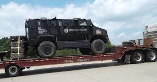 Footage of hundreds of armored trucks, similar to ones reportedly purchased recently by the Department Of Homeland Security has appeared online, raising more