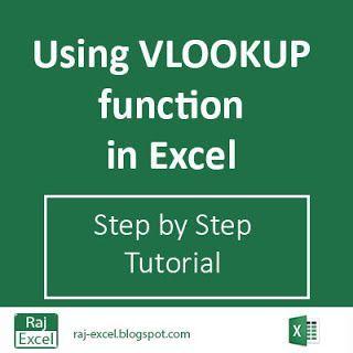 Raj Excel: Using VLOOKUP function (step by step tutorial)