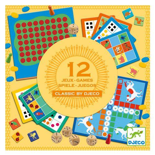 Djeco Επιτραπέζια 12 κλασικά παιχνίδια   TOYS.GR