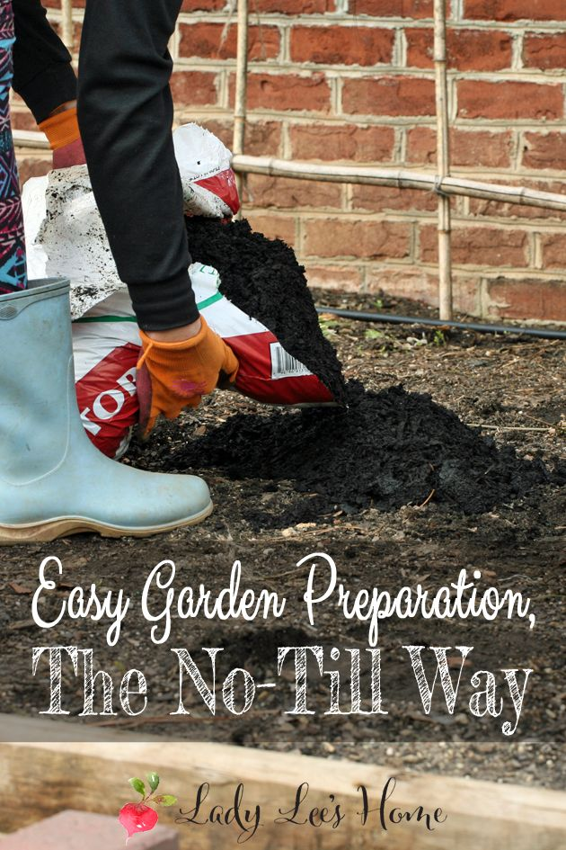 Here is how to prepare your garden for planting in just a few minutes. No-till gardening is easy and your plants will love it! #LadyLee'sHome