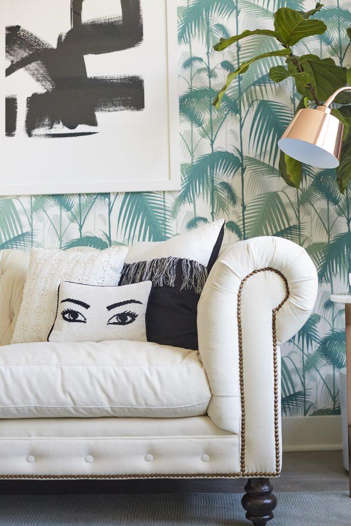 Nicolette Mason Home Featuring Jonathan Adler Eyes Pillow