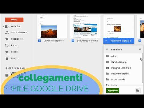 Google Drive: creare collegamenti di file e cartelle - YouTube