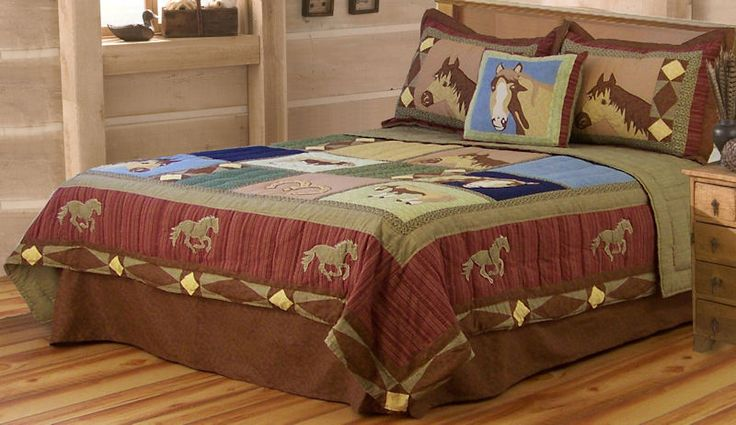 Kids Love Themed Bedroom Sets: Horse Quilt Twin,full/queen Or King