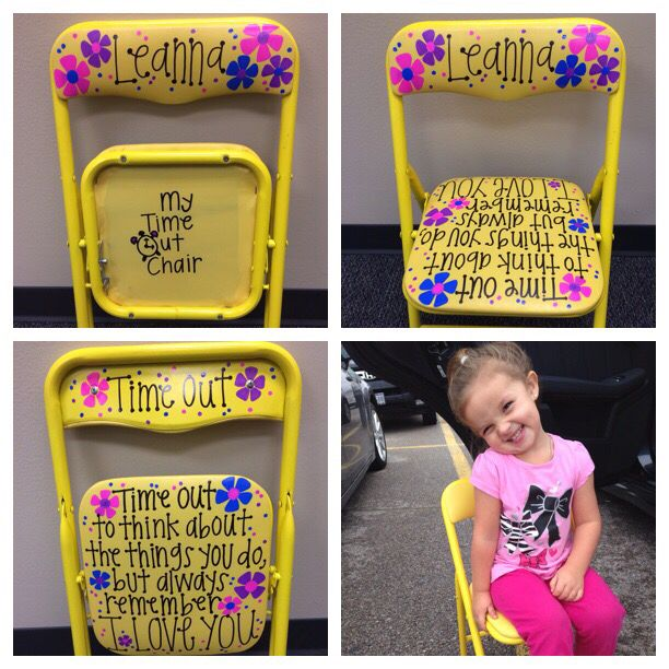 Time out chair for the sweetest and sassiest little girl I know!