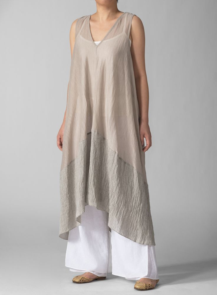 Linen Knit Long Tunic | Smooth, roomy. Let your casual wardrobe express your easy, breezy style.Additionally, plus clothing size will be suitable for you.