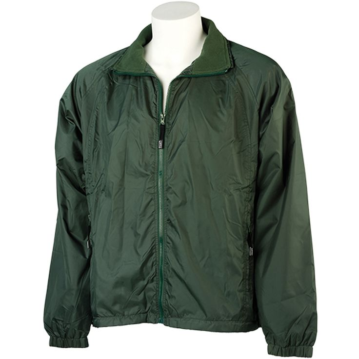Windjack groen maat L/XL gevoerd atlantic breeze  Description: Gemaakt van 100% nylon. Met fleece binnenvoering. Elastische armmanchetten en onderzijde met rijgkoord en stoppers.  Price: 15.99  Meer informatie