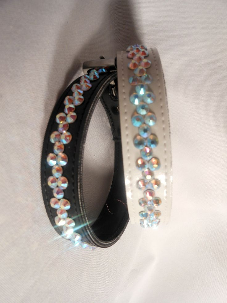 CRYSTAL DICE  $24.95 hand made crystal diamante collar in a dice design. Available in Black or White