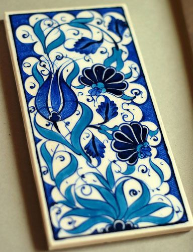 Hand painted tile by Pottery Hand Painted.
