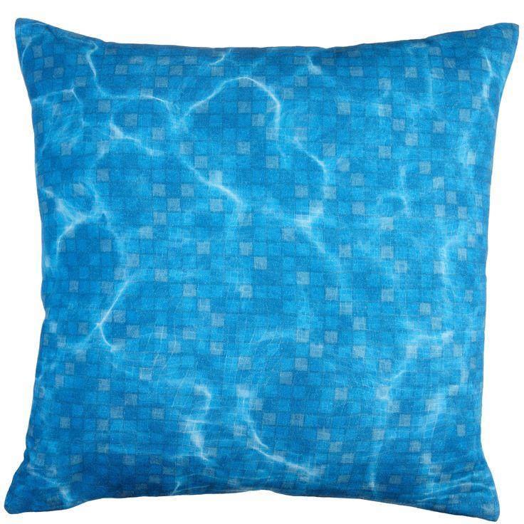 Kussen KAAT Pool Party Blue - NIEUWE COLLECTIE | Cushion KAAT | http://www.livengo.nl/beddengoed/sierkussens/kaat-amsterdam-pampelonne-sierkussen-blauw | #sierkussens #zwembad #blauw #golven #livengo