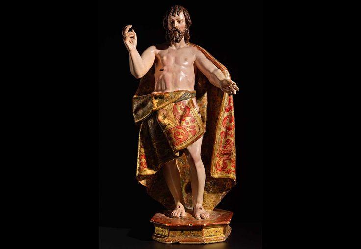 Cristo Mexico. S.XVII Madera tallada y policromada 49,5 cm