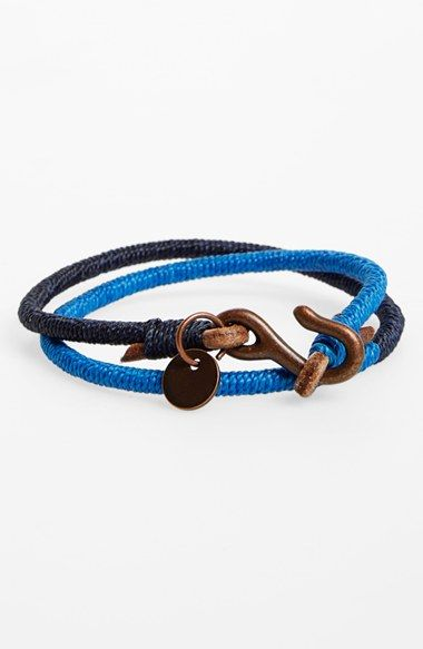 Caputo & Co Leather & Nylon Wrap Bracelet available at #Nordstrom