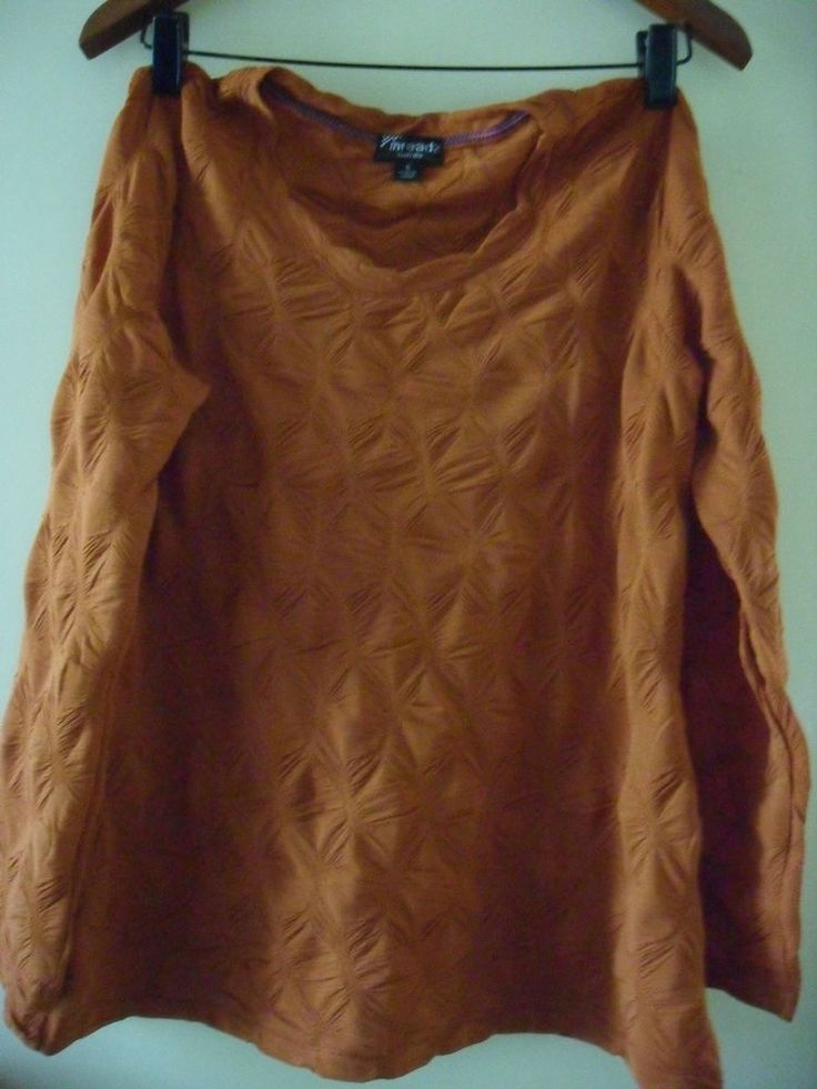 THREADS top SIZE S nwot burnt orange stretch