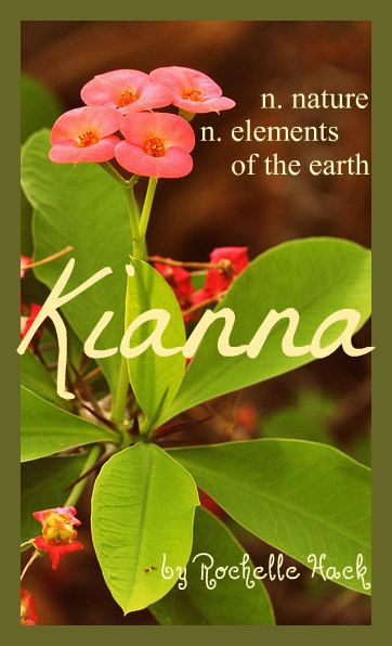 Baby Girl Name(s): Kianna or Kiana. Meaning: Nature; Elements of the Earth. Origin: Persian; Hawaiian. https://www.pinterest.com/vintagedaydream/baby-names/