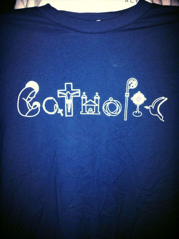 Cute Catholic T-shirt logo
