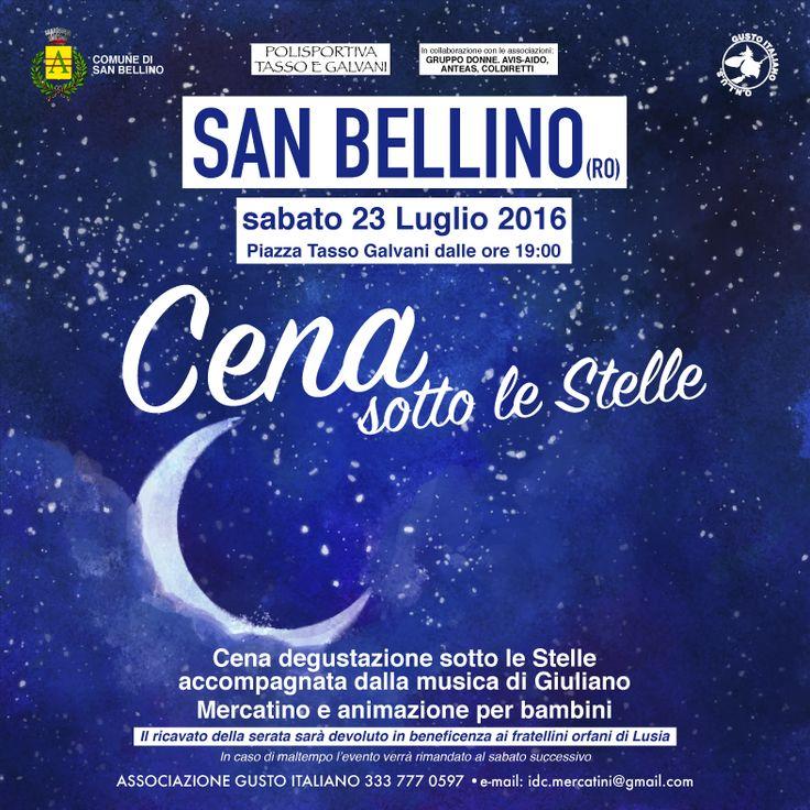 Cena Sotto Le Stelle - San Bellino