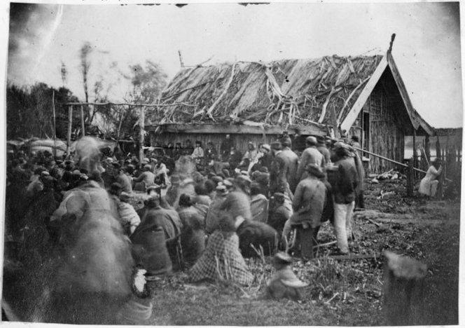 Wanganui Maori meeting at Putiki Pa