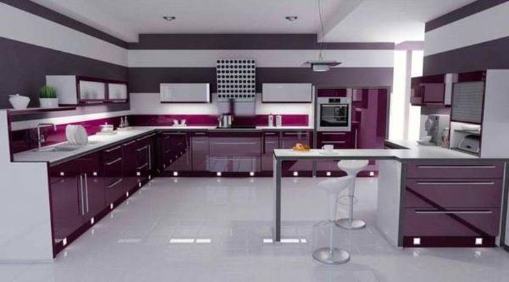 gray+and+purple+kitchens | ... purple kitchen Take Fashionable appearance » purple kitchen theme