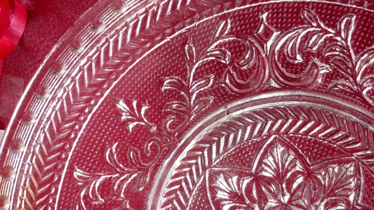 Henry Greener Plate, Sunderland, England. The Wear Flint Glass Works. Registry mark of July, 31, 1869. Detail shot.