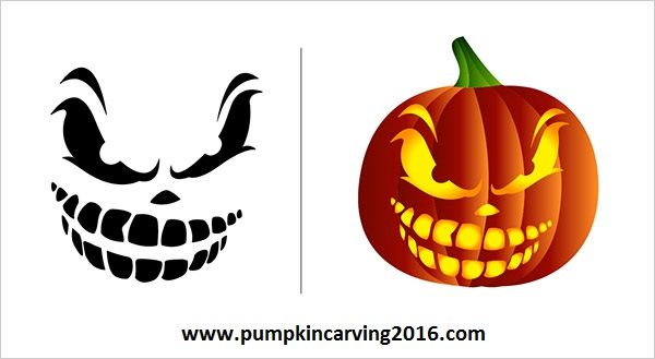 Free scary pumpkin carving patterns and stencils (3)