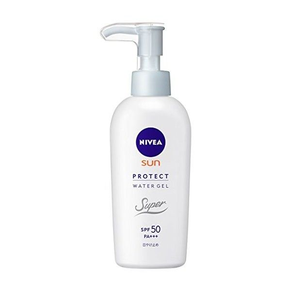 Nivea Sun Protect Super Water Gel SPF 50/PA (Face Body)Pump Type 140 g... (42 BAM) ❤ liked on Polyvore featuring beauty products, bath & body products, sun care and nivea