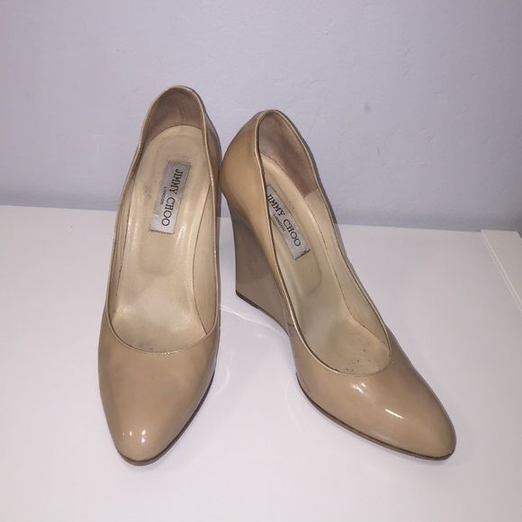 authentic jimmy choo heels patent leather wedges