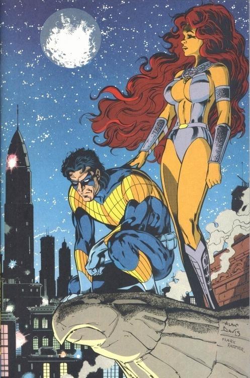 starfire & nightwing: Nightwing, Robin, Teen Titans, Dc Comics, Comic Books, Starfire, Comics Dc, Teentitans