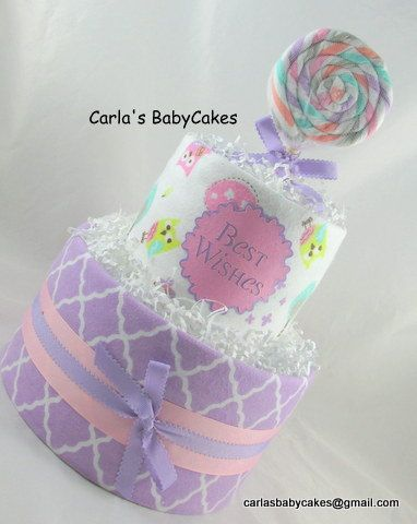 Girl diaper cake  Unique baby gift  Baby shower decoration