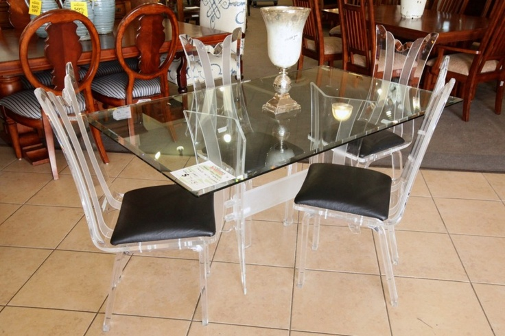 81 Best Images About Glass Top Dining Room Tables On