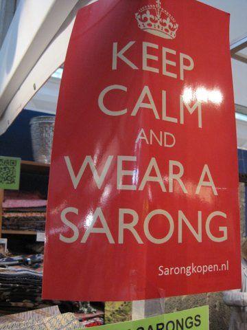 Gezien op de Tong Tong Fair in Den Haag.