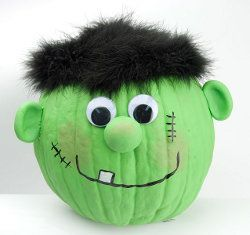 Make a lovable Frankenstein pumpkin this Halloween. You can use this free craft idea to decorate your home for the spooky day. Set this guy out on your front porch or in your window.