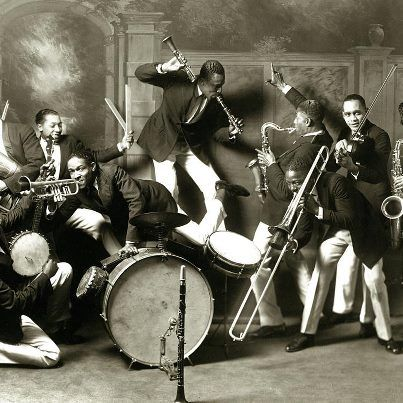 St. Louis Cotton Club Band, 1925; the beginnings of jazz