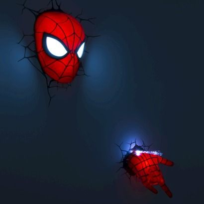 Target 3D Wall Art Nightlight Collection - Spiderman Love the wall colour ( wall with window).. put this beside window.