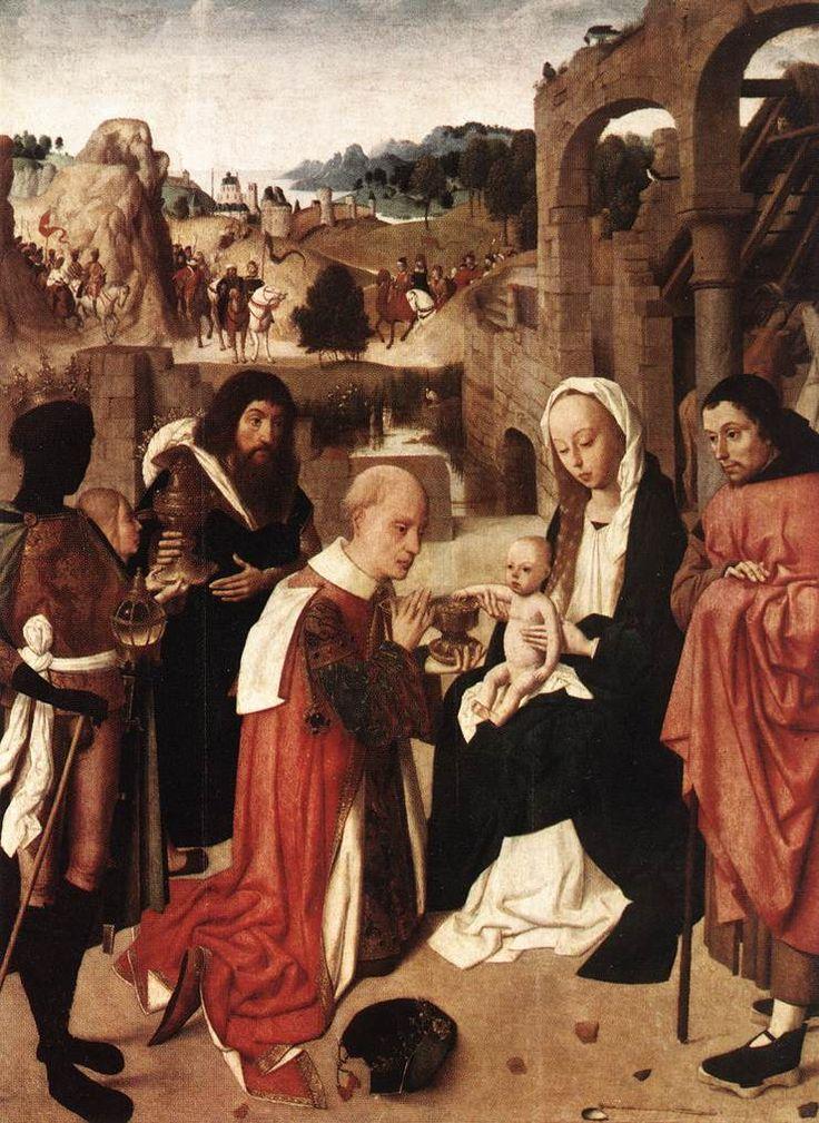 Geertgen tot Sint Jans (1460/1465 – до 1495) Поклонение волхвов.  Rijksmuseum Amsterdam
