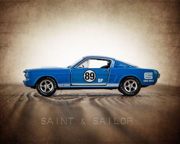 Vintage Muscle Car Blue 65 Shelby Mustang GT Fastback #vintagecars