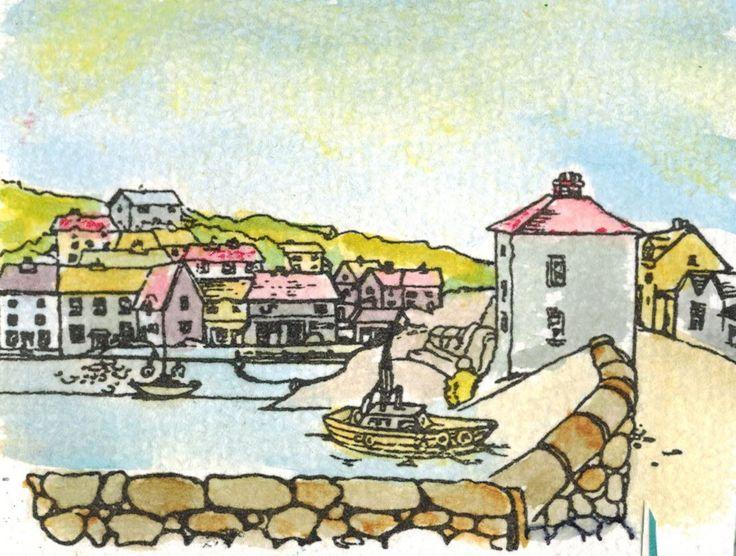 Deze afbeelding is gemaakt door Angela met de stempelset Harbour Village van Hobby Art. Verkrijgbaar bij www.multihobby.nl