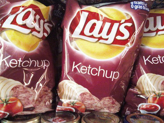 And you might be able to find ketchup chips some places in the U., but it& really a Canadian thing.