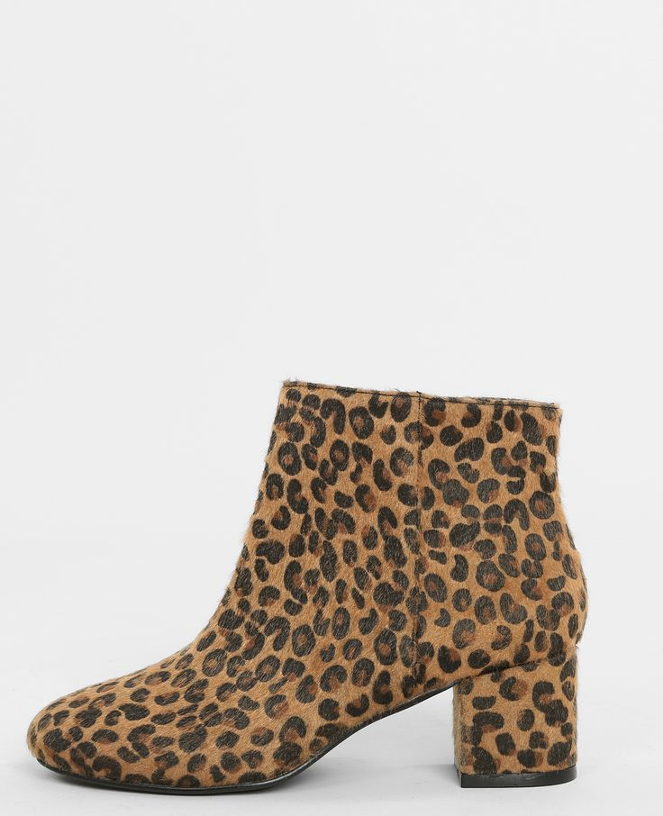 Boots léopard - On jette son dévolu sur l'imprimé léopard, qui cet hiver se joue en pet...