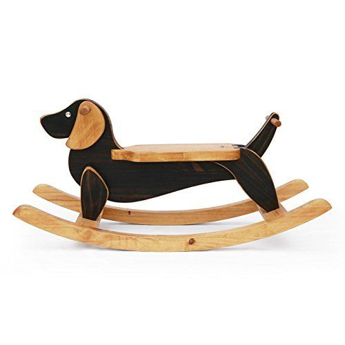 Handmade Wooden Ride On Rocking Dog Brown Dachshund Animal Design Rocker  Antique Alive Toy Http:
