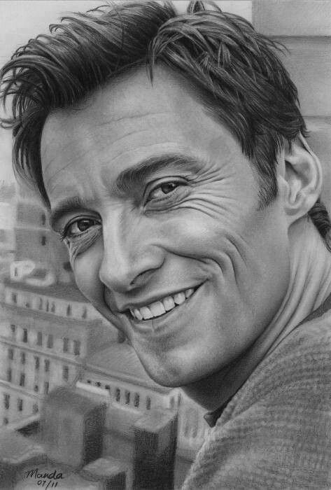 find this pin and more on adult coloring pages pencil drawing of hugh jackman