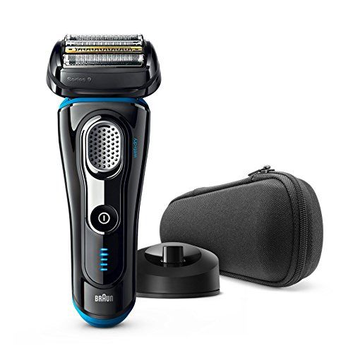 Braun Series 9 9296cc Men's Electric Foil Shaver, Wet and Dry with Clean and Renew Charge Station, Rechargeable, Cordless Razor and Premium Travel Case  Braun series 9 is the world's efficient shaver, that's exceptionally gentle to your skin; tested on 3-days beards vs. leading premium tier products; details on braun.com/study-results Five synchronised shaving elements to capture more hair in the first stroke than any other premium shaver; tested on 3-days beards vs. lea