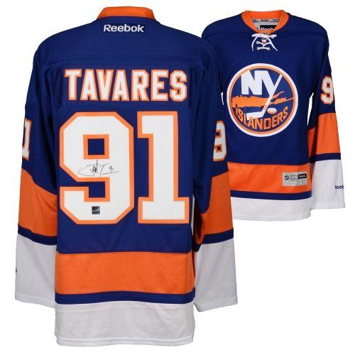 Frameworth John Tavares New York Islanders Autographed Blue Reebok Premier Jersey