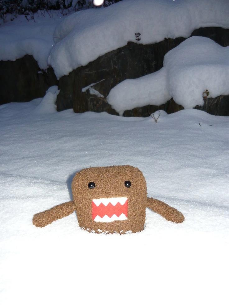 Domo-kun in snow. ^.^