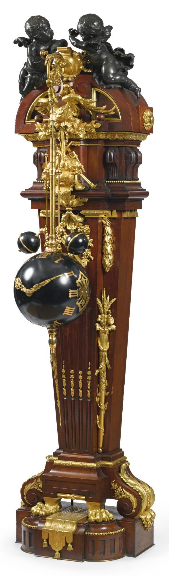 A Louis XIV style gilt and patinated bronze mounted mahogany torsion pendulum long case clockParis, late 19th century | Lot | Sotheby's M-R