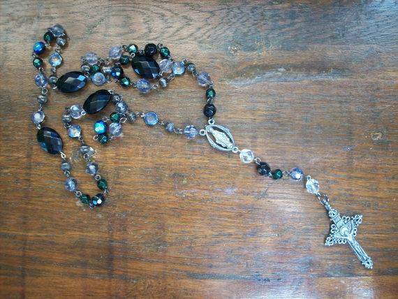 Handmade Catholic Rosary by MatriarchVintage on Etsy, $8.00