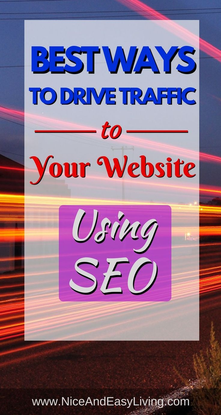 The faster you can learn to use SEO to increase traffic, the faster you'll get more traffic to yourwebsite. Simple formula, right? https://niceandeasyliving.com/ways-drive-traffic-to-your-website-seo/  #seo #makemoneyonline #makemoney #affiliatemarketing