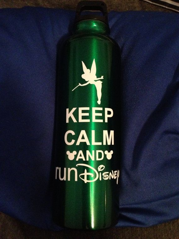Tinkerbell Keep Calm and Run Disney by RunnersBling on Etsy