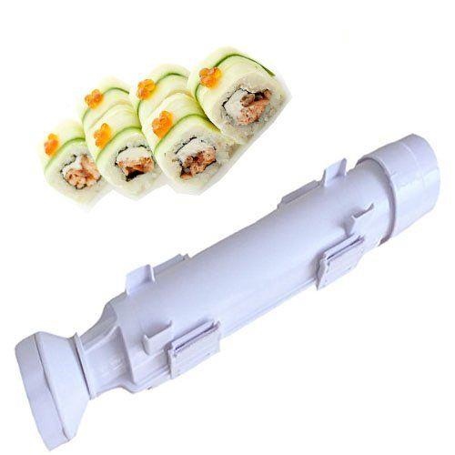 Bazooka Sushi Bontec Appareil à Sushi Sushi Rouleau Machine à Kit Riz Rouleau Moule Moule Chef Cuisine Appareil à Sushis et Makis à Piston:…